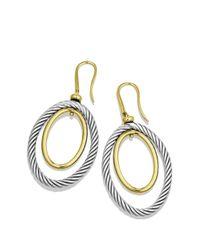 David Yurman - Metallic Mobile Oval Earrings With Gold - Lyst