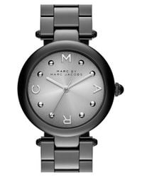 Marc By Marc Jacobs - Black Marc Jacobs 'dotty' Bracelet Watch - Lyst