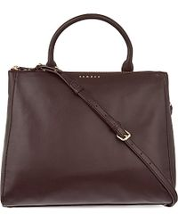 Sandro | Purple Alanisse Medium Leather Shopper - For Women | Lyst