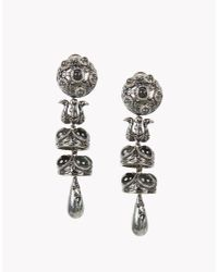 DSquared² - Gray Charlotte Earrings - Lyst