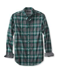 Banana Republic | Blue Slim-fit Graphic Plaid Luxe-flannel Oxford for Men | Lyst