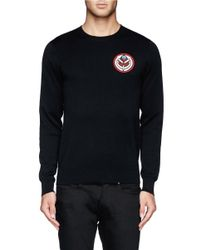 Givenchy - Black Arrow And Tribal Snake Applique Sweater for Men - Lyst