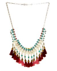 Isabel Marant | Red Mild Bead And Tassel Necklace | Lyst