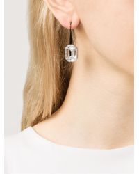 Rebecca | Metallic 'elizabeth' Stone Earrings | Lyst