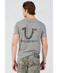 True Religion | Gray American Indian Mens T-shirt for Men | Lyst