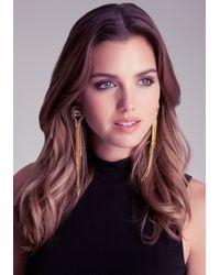 Bebe - Metallic Crystal Spike Earrings - Lyst