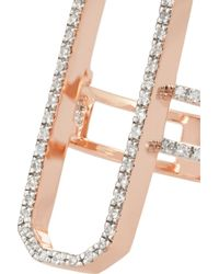 Monica Vinader - Pink Naida Cocktail Rose Gold-plated Diamond Ring - Lyst