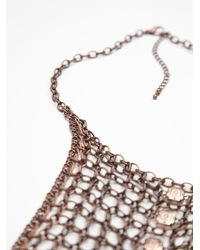 Free People | Brown Womens Chainmail Collar | Lyst
