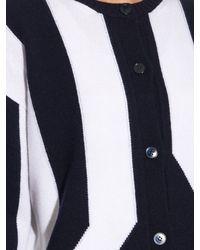 Jil Sander - Blue Striped Intarsia-knit Cashmere Cardigan - Lyst