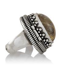 Saint Laurent - Metallic Boîte Silver Quartz Ring - Lyst