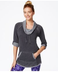 Calvin Klein | Gray High-low Hem Hooded Tunic | Lyst