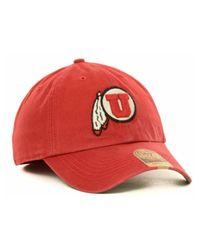 47 Brand | Red Utah Utes Ncaa '47 Franchise Cap for Men | Lyst
