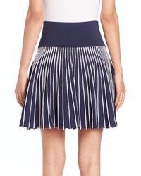 Opening Ceremony - Blue Contrast-stripe Skirt - Lyst