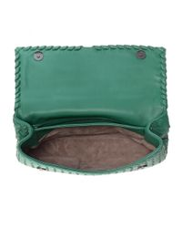 Bottega Veneta - Green Olimpia Intrecciato Leather Shoulder Bag - Lyst