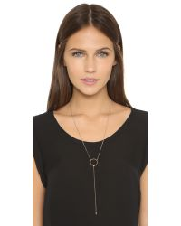 Luv Aj - Metallic The Delphi Lariat Necklace - Antique Gold - Lyst