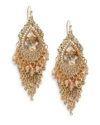 Saks Fifth Avenue | Metallic Beaded Teardrop Chain Fringe Earrings | Lyst