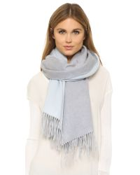 Rag & Bone | Gray Double Face Scarf | Lyst