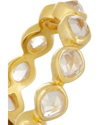 Monica Vinader - Metallic Siren Eternity Gold Plated Rock Crystal Ring - Lyst