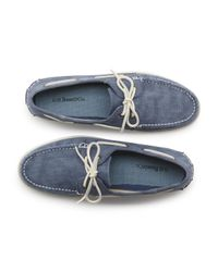 G.H. Bass & Co. | Blue Hampton Canvas Boater for Men | Lyst