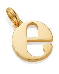 Monica Vinader | Metallic Gold Lower Case E Pendant | Lyst