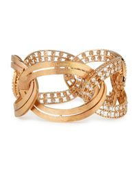 Staurino Fratelli - Metallic 18k Rose Gold Diamond Link Bracelet - Lyst