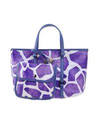 Class Roberto Cavalli | Purple Handbag | Lyst