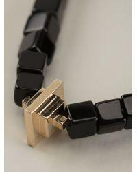 Luis Morais - Black Gold Toggle Charm Bracelet for Men - Lyst
