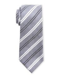 Vince Camuto | Gray Cosimo Striped Linen Tie for Men | Lyst