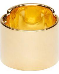 Maiyet - Metallic Gold Horn Foldover Ring - Lyst