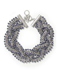 Banana Republic | Metallic Braided Chain Necklace | Lyst