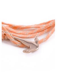 Miansai - Orange Mini Anchor Bracelet - Lyst