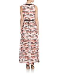 Kensie | Multicolor Watercolor Stripe Maxi Dress | Lyst