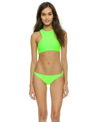 Mikoh Swimwear | Green Barbados Bikini Top - Lime | Lyst