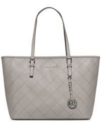 Michael Kors | Gray Michael Jet Set Travel Top Zip Tote | Lyst
