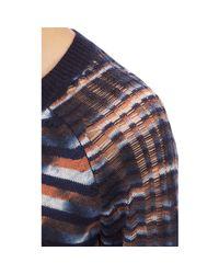 Raquel Allegra - Blue Unraveled-Knit Stripe Sweater - Lyst