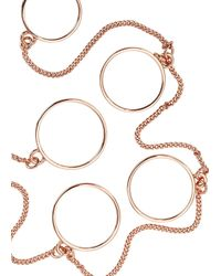 Eddie Borgo - Pink Rose Gold-plated Five Finger Ring - Lyst