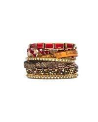 Hipanema | Metallic Bracelet With Faux Fur | Lyst