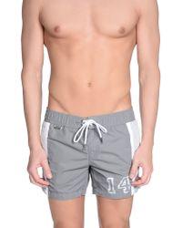 Bikkembergs - Gray Swimming Trunk for Men - Lyst
