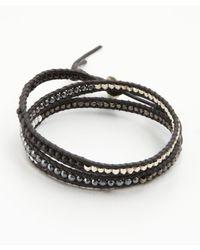 Chan Luu | Black Matte Onyx Triple Wrap Bracelet | Lyst