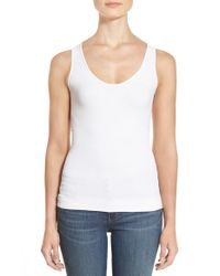 NYDJ | White Contour Knit Body Shaper Tank | Lyst