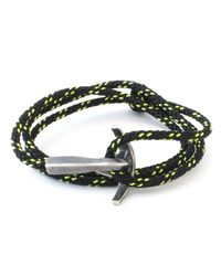 Anchor & Crew - All Black Bruce Rope Bracelet for Men - Lyst