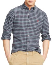 Ralph Lauren - Purple Polo Plaid Oxford Shirt for Men - Lyst