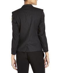 Balmain - Black Pinstripe Blazer - Lyst
