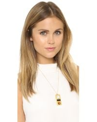 Madewell | Belle Stone Pendant Necklace - True Black | Lyst