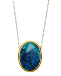 Gurhan - Blue Surf Paua Shell Pendant Necklace - Lyst