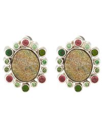 Stephen Dweck | Metallic Silver Druzy Earrings | Lyst