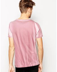 ASOS - Pink T-Shirt With Biker Print for Men - Lyst