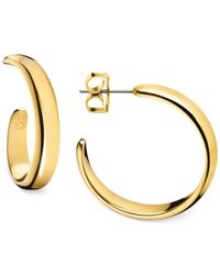 Calvin Klein | Metallic Embrace Hoop Earrings | Lyst