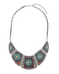TOPSHOP - Purple Plaited Thread Necklace - Lyst