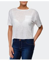 Rag & Bone | White Croppe Deal T-shirt | Lyst